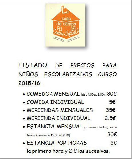 Listados de precios para ni os escolarizados for Wc para ninos precios