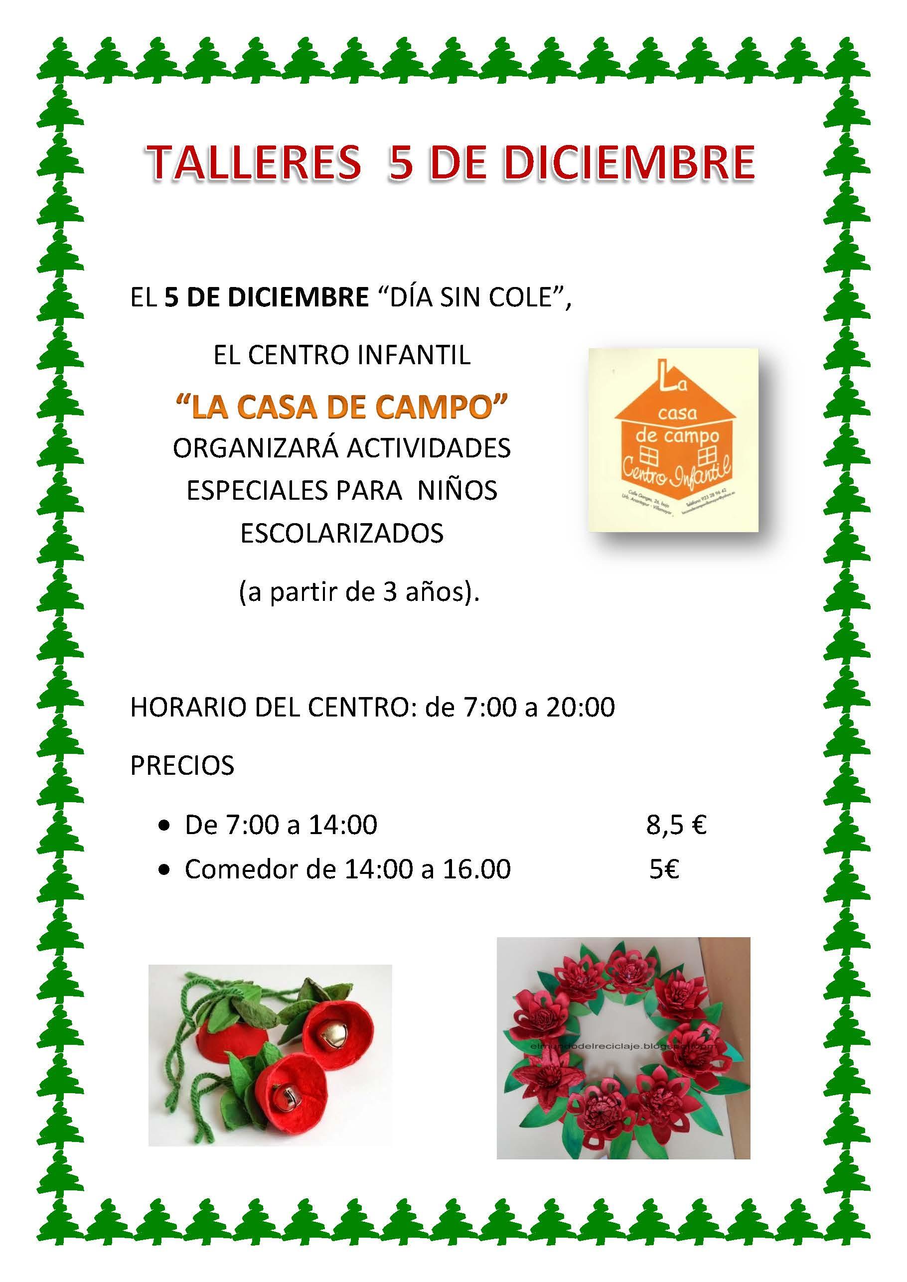"""Talleres 5 de Diciembre """"Día sin Cole"""""""