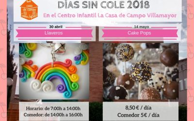 Días sin cole: 30 de abril y 14 de mayo