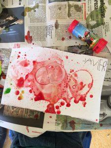 Aprendemos una técnica de pintura nueva