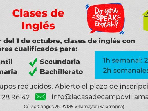 Comienzo de las clases de inglés